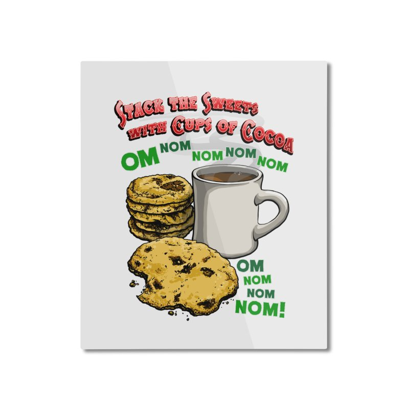 Stack the Sweets with Cups of Cocoa Home Mounted Aluminum Print by Joe Abboreno's Artist Shop