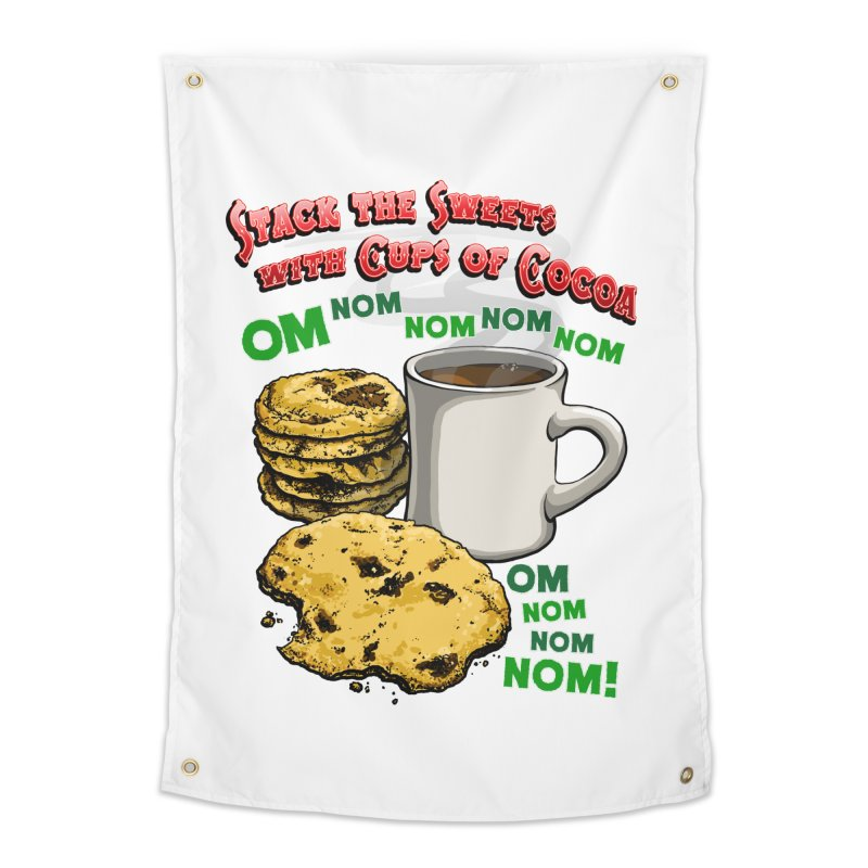 Stack the Sweets with Cups of Cocoa Home Tapestry by Joe Abboreno's Artist Shop