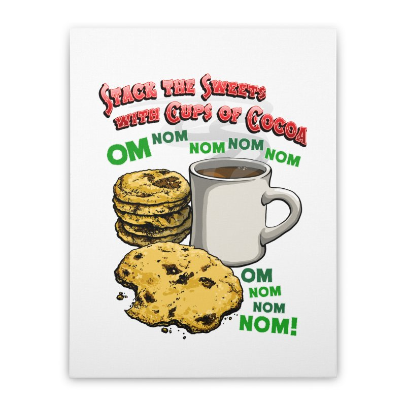 Stack the Sweets with Cups of Cocoa Home Stretched Canvas by Joe Abboreno's Artist Shop