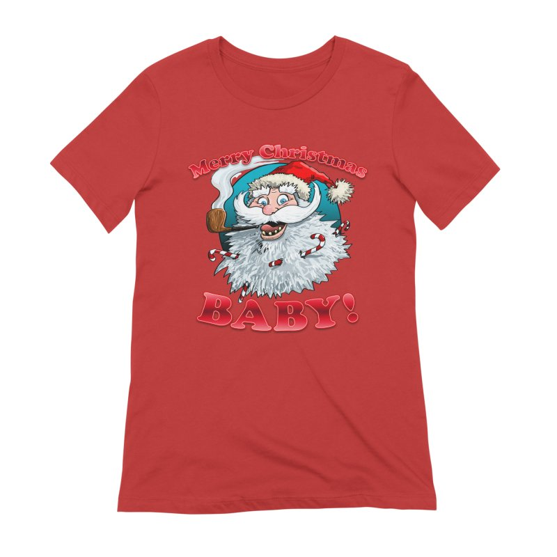 Merry Christmas Baby! Women's Extra Soft T-Shirt by Joe Abboreno's Artist Shop