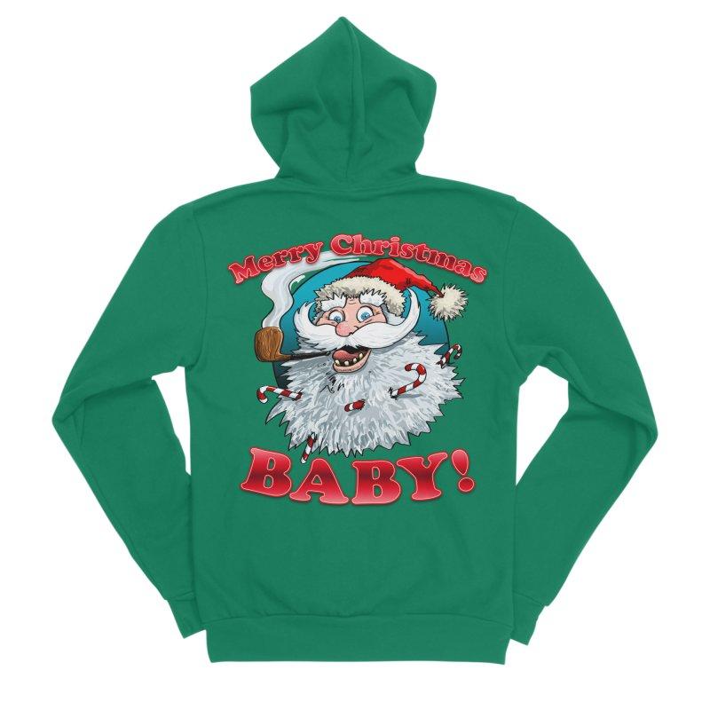 Merry Christmas Baby! Women's Sponge Fleece Zip-Up Hoody by Joe Abboreno's Artist Shop