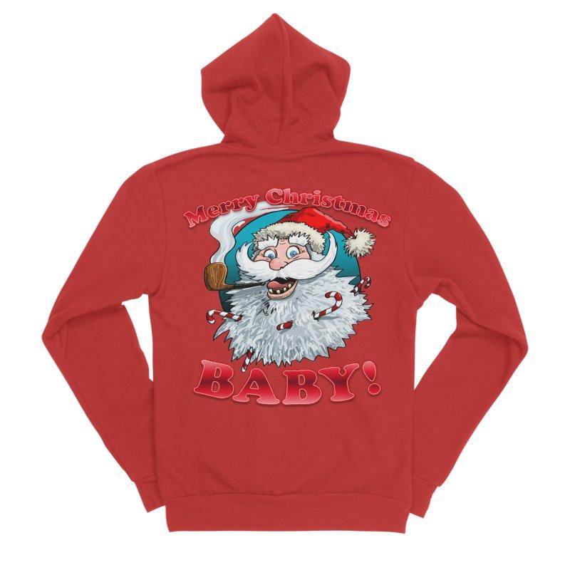 Merry Christmas Baby! Men's Sponge Fleece Zip-Up Hoody by Joe Abboreno's Artist Shop