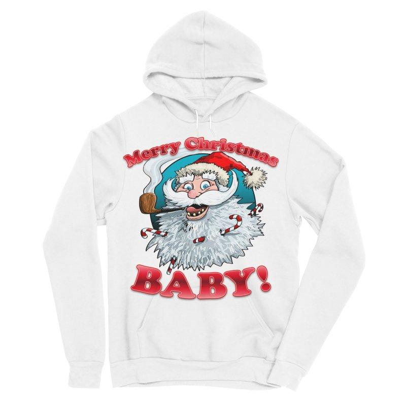 Merry Christmas Baby! Men's Sponge Fleece Pullover Hoody by Joe Abboreno's Artist Shop