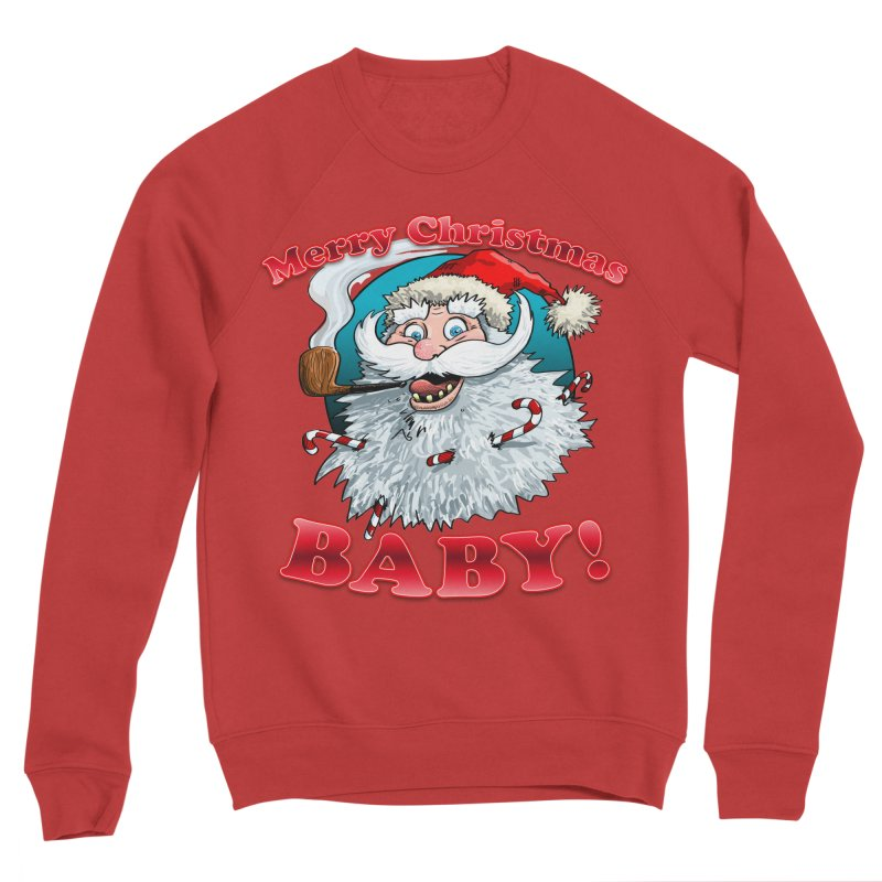 Merry Christmas Baby! Men's Sponge Fleece Sweatshirt by Joe Abboreno's Artist Shop
