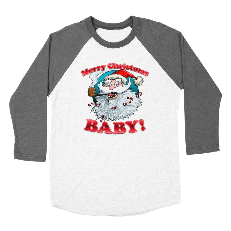 Merry Christmas Baby! Women's Baseball Triblend Longsleeve T-Shirt by Joe Abboreno's Artist Shop