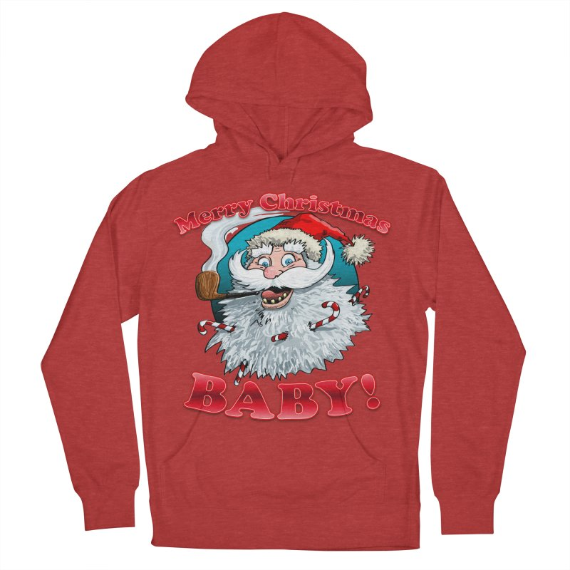 Merry Christmas Baby! Men's French Terry Pullover Hoody by Joe Abboreno's Artist Shop