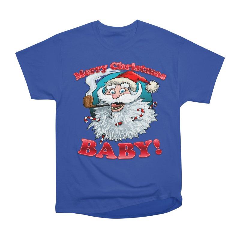 Merry Christmas Baby! Men's Heavyweight T-Shirt by Joe Abboreno's Artist Shop