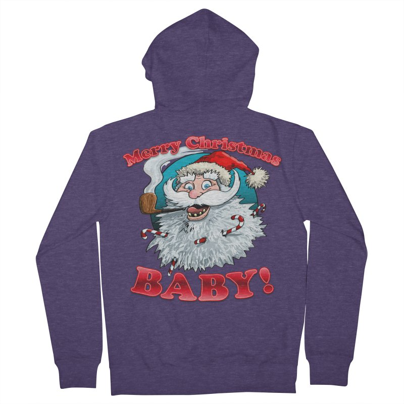 Merry Christmas Baby! Men's French Terry Zip-Up Hoody by Joe Abboreno's Artist Shop