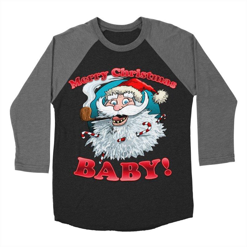 Merry Christmas Baby! Men's Baseball Triblend Longsleeve T-Shirt by Joe Abboreno's Artist Shop