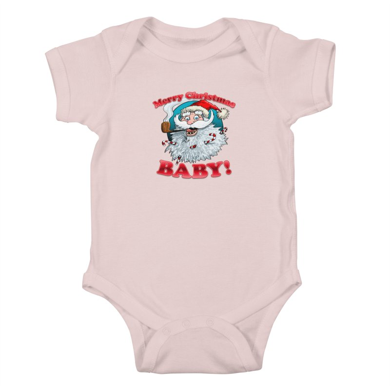 Merry Christmas Baby! Kids Baby Bodysuit by Joe Abboreno's Artist Shop