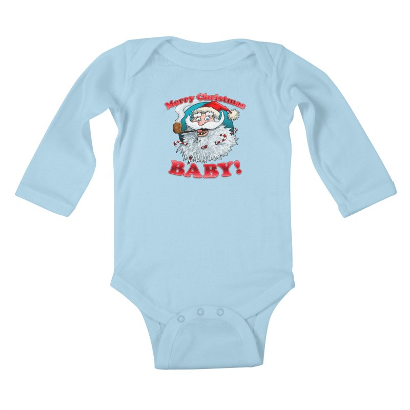 Merry Christmas Baby! Kids Baby Longsleeve Bodysuit by Joe Abboreno's Artist Shop