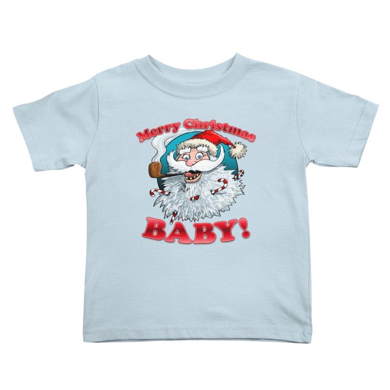 Merry Christmas Baby! Kids Toddler T-Shirt by Joe Abboreno's Artist Shop