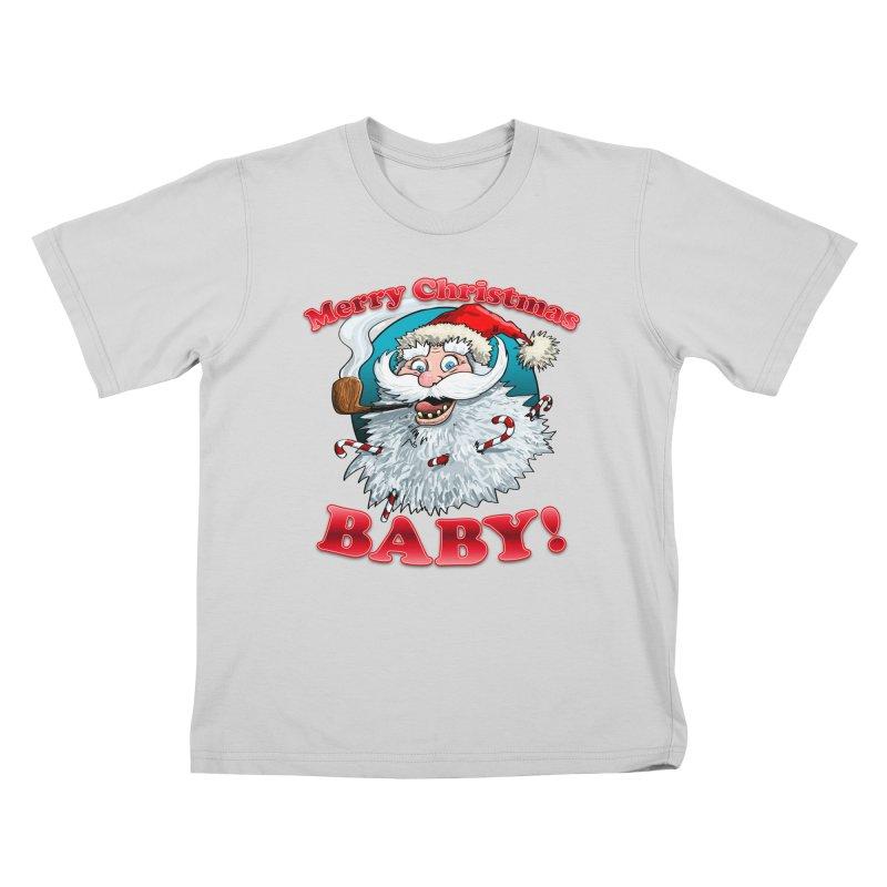 Merry Christmas Baby! Kids T-Shirt by Joe Abboreno's Artist Shop