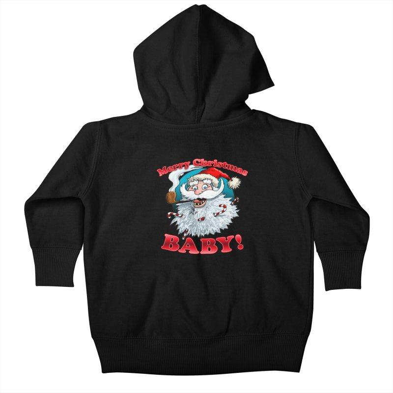 Merry Christmas Baby! Kids Baby Zip-Up Hoody by Joe Abboreno's Artist Shop