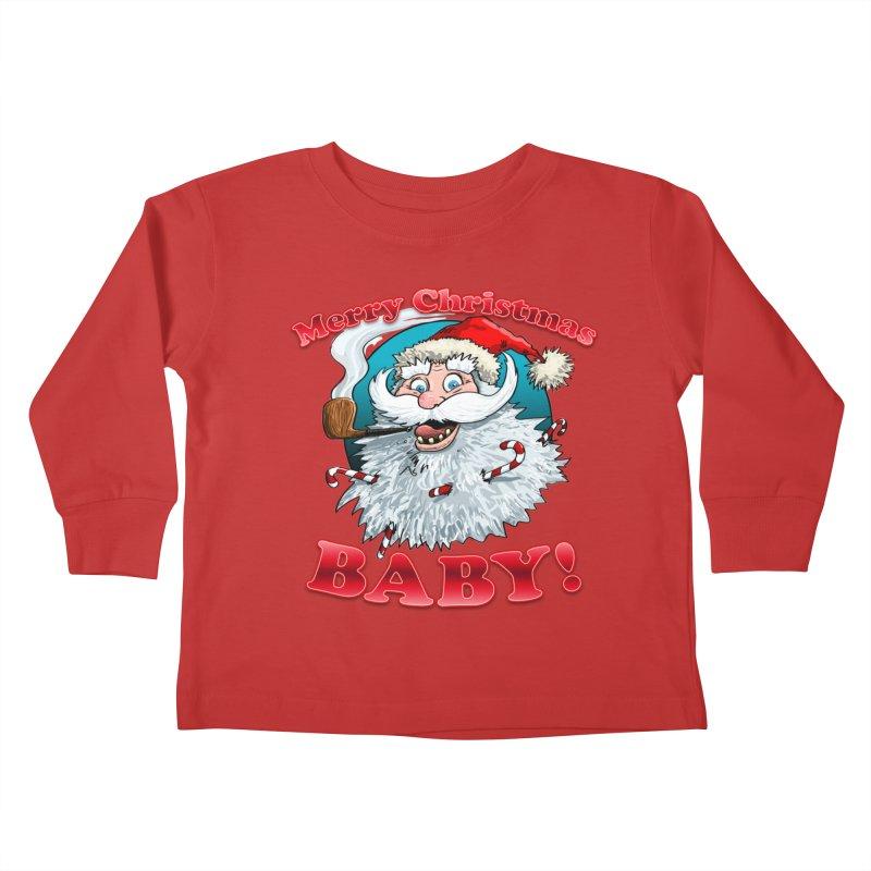 Merry Christmas Baby! Kids Toddler Longsleeve T-Shirt by Joe Abboreno's Artist Shop