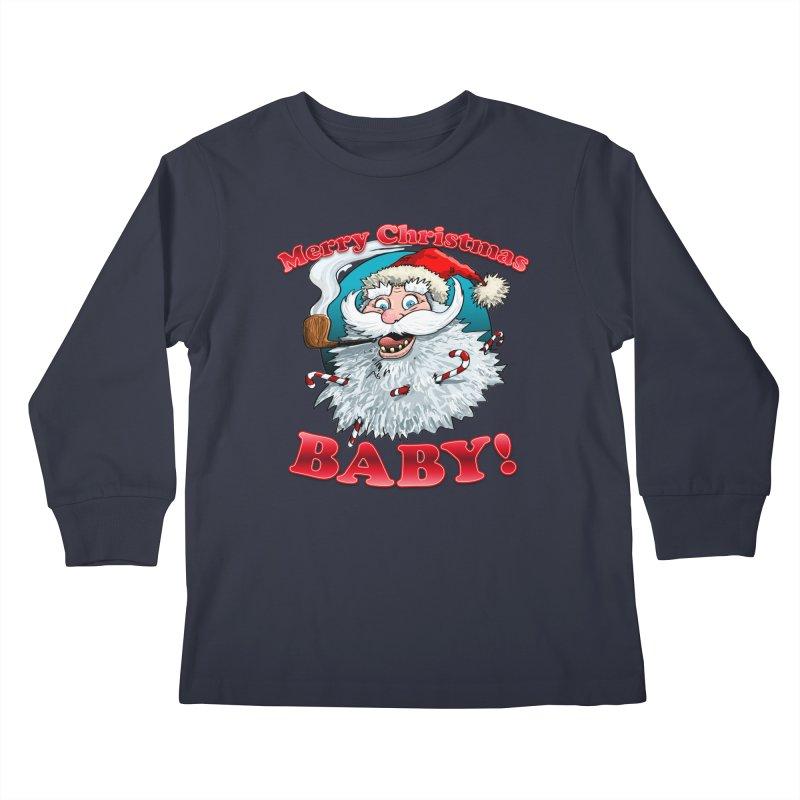 Merry Christmas Baby! Kids Longsleeve T-Shirt by Joe Abboreno's Artist Shop