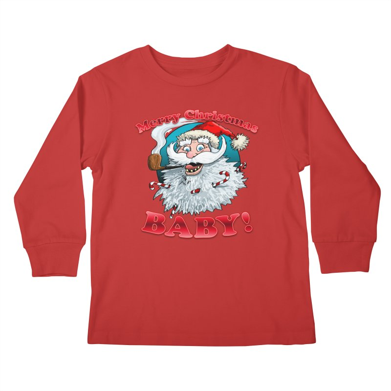 Merry Christmas Baby! Kids Longsleeve T-Shirt by Joe Abboreno's Artist Shop