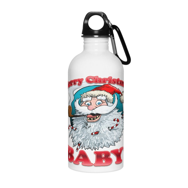 Merry Christmas Baby! Accessories Water Bottle by Joe Abboreno's Artist Shop