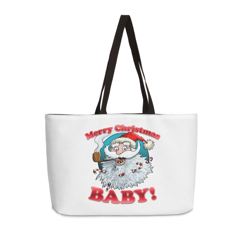Merry Christmas Baby! Accessories Weekender Bag Bag by Joe Abboreno's Artist Shop