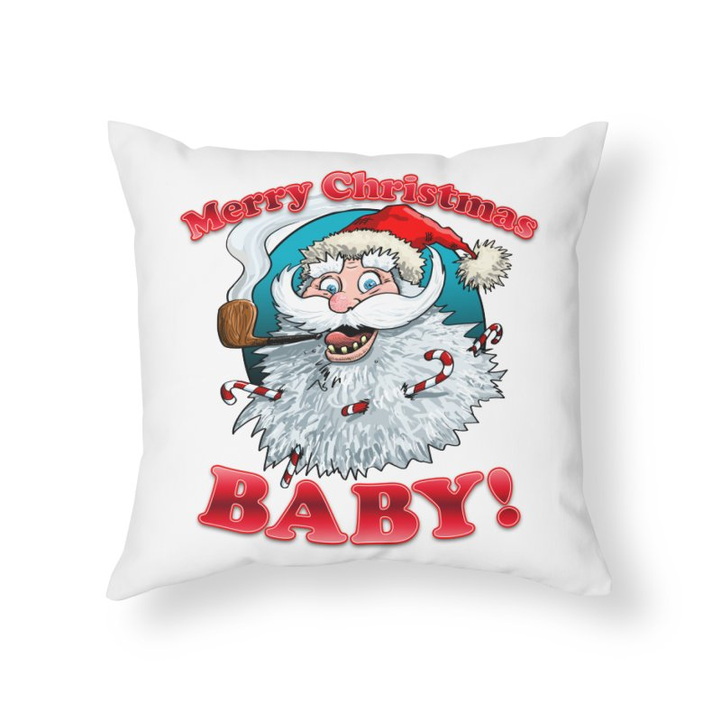 Merry Christmas Baby! Home Throw Pillow by Joe Abboreno's Artist Shop