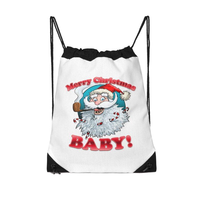 Merry Christmas Baby! Accessories Drawstring Bag Bag by Joe Abboreno's Artist Shop