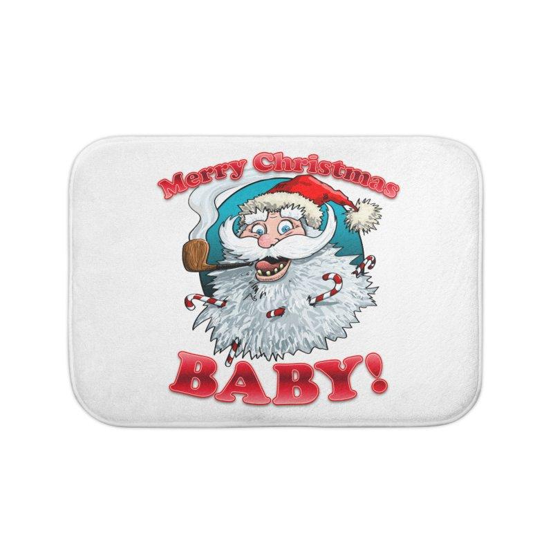Merry Christmas Baby! Home Bath Mat by Joe Abboreno's Artist Shop