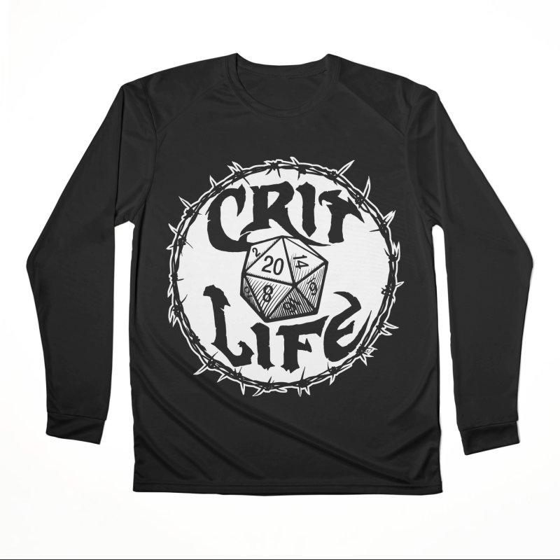 Crit Life (Light on Dark) Men's Performance Longsleeve T-Shirt by Joe Abboreno's Artist Shop