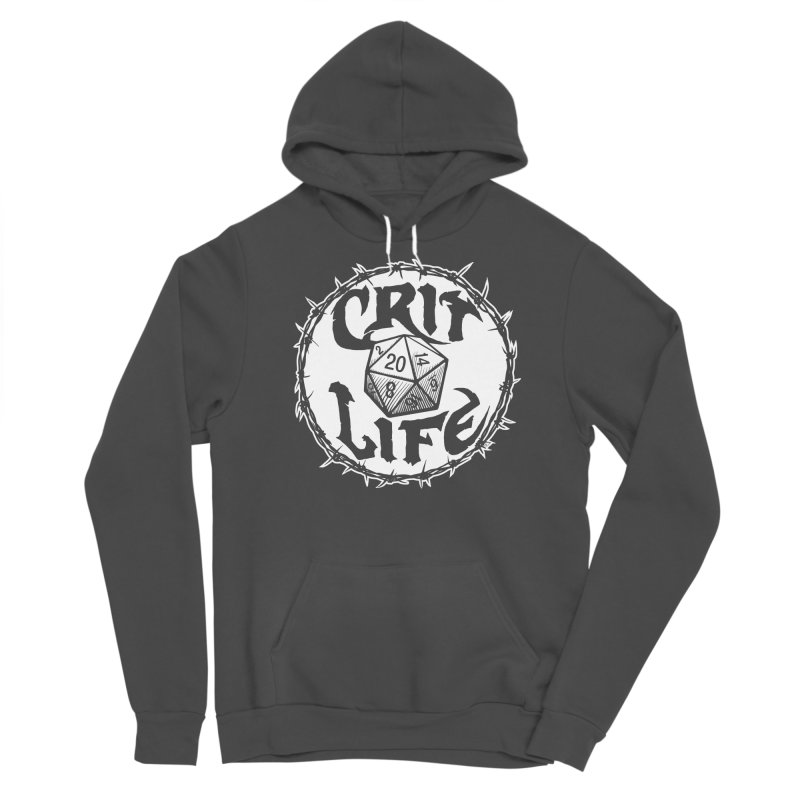 Crit Life (Light on Dark) Men's Sponge Fleece Pullover Hoody by Joe Abboreno's Artist Shop