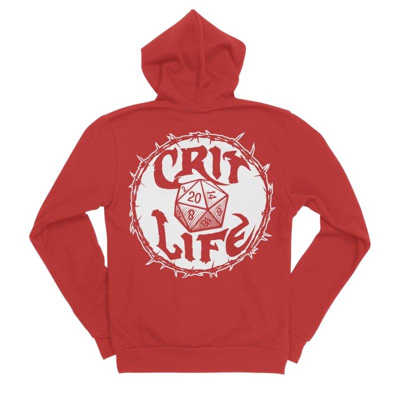 Crit Life (Light on Dark) Women's Sponge Fleece Zip-Up Hoody by Joe Abboreno's Artist Shop