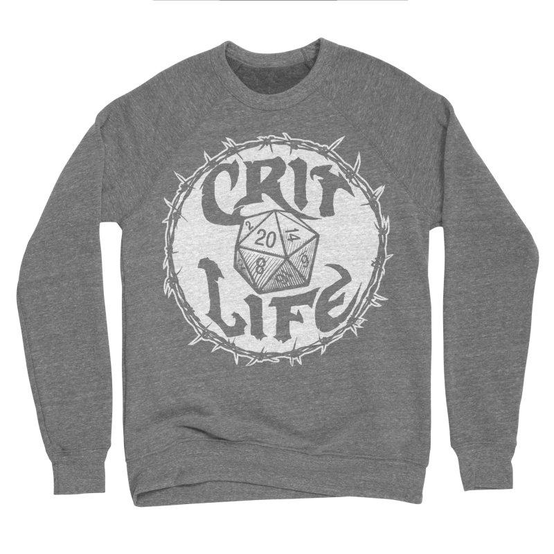 Crit Life (Light on Dark) Men's Sponge Fleece Sweatshirt by Joe Abboreno's Artist Shop
