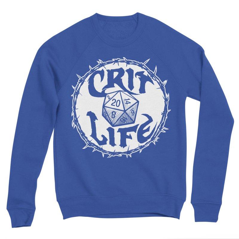 Crit Life (Light on Dark) Women's Sponge Fleece Sweatshirt by Joe Abboreno's Artist Shop