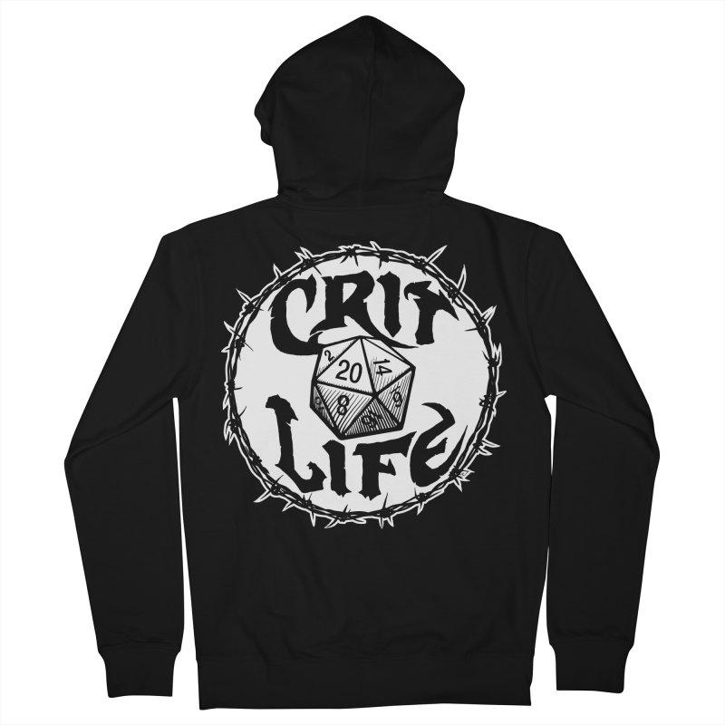 Crit Life (Light on Dark) Women's French Terry Zip-Up Hoody by Joe Abboreno's Artist Shop