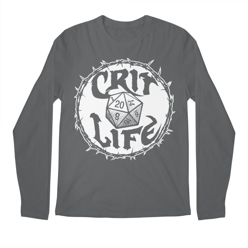 Crit Life (Light on Dark) Men's Regular Longsleeve T-Shirt by Joe Abboreno's Artist Shop