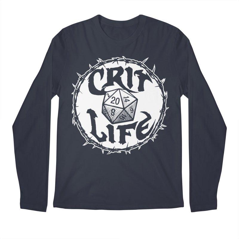 Crit Life (Light on Dark) Men's Regular Longsleeve T-Shirt by Joe Abboreno's Artist Shop