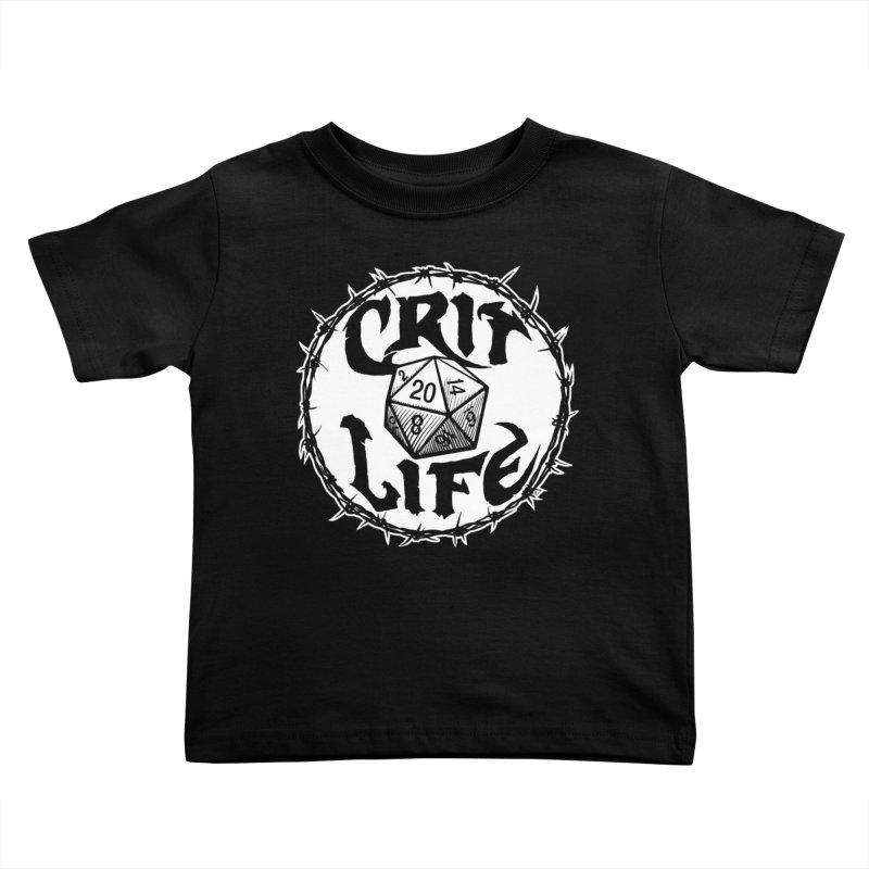 Crit Life (Light on Dark) Kids Toddler T-Shirt by Joe Abboreno's Artist Shop