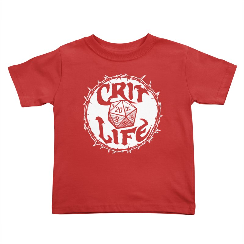 Crit Life (Light on Dark) Kids Toddler T-Shirt by Joe Abboreno's Artist Shop