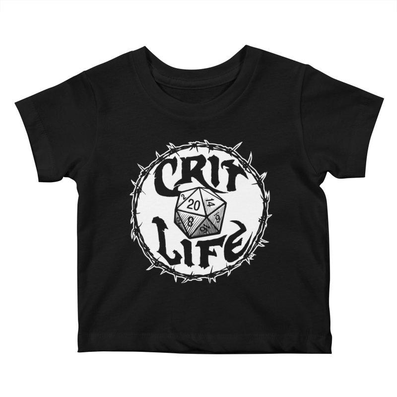 Crit Life (Light on Dark) Kids Baby T-Shirt by Joe Abboreno's Artist Shop