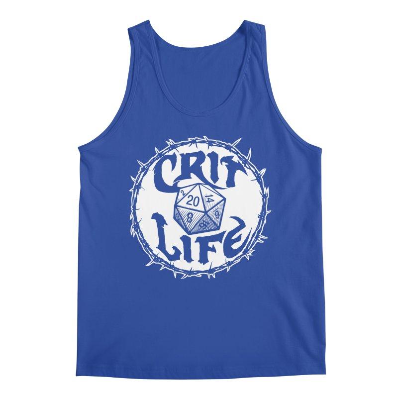 Crit Life (Light on Dark) Men's Regular Tank by Joe Abboreno's Artist Shop