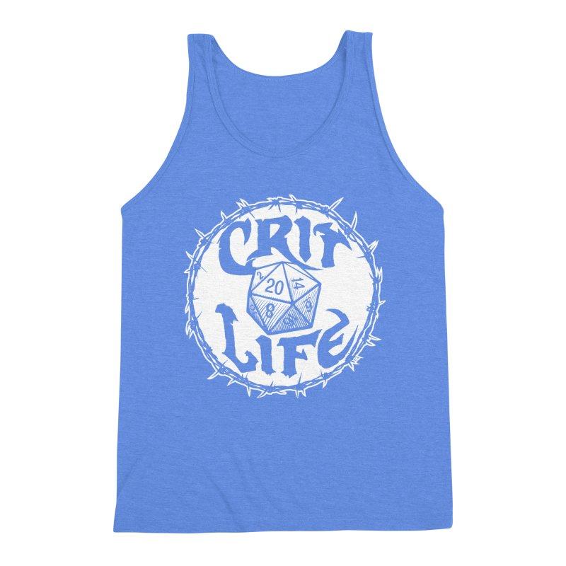 Crit Life (Light on Dark) Men's Triblend Tank by Joe Abboreno's Artist Shop