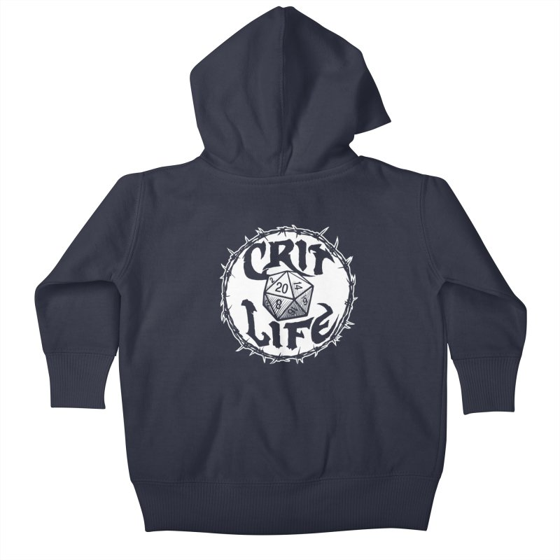 Crit Life (Light on Dark) Kids Baby Zip-Up Hoody by Joe Abboreno's Artist Shop