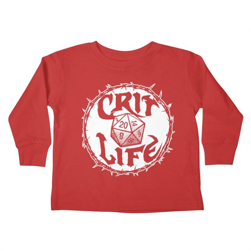 Crit Life (Light on Dark) Kids Toddler Longsleeve T-Shirt by Joe Abboreno's Artist Shop