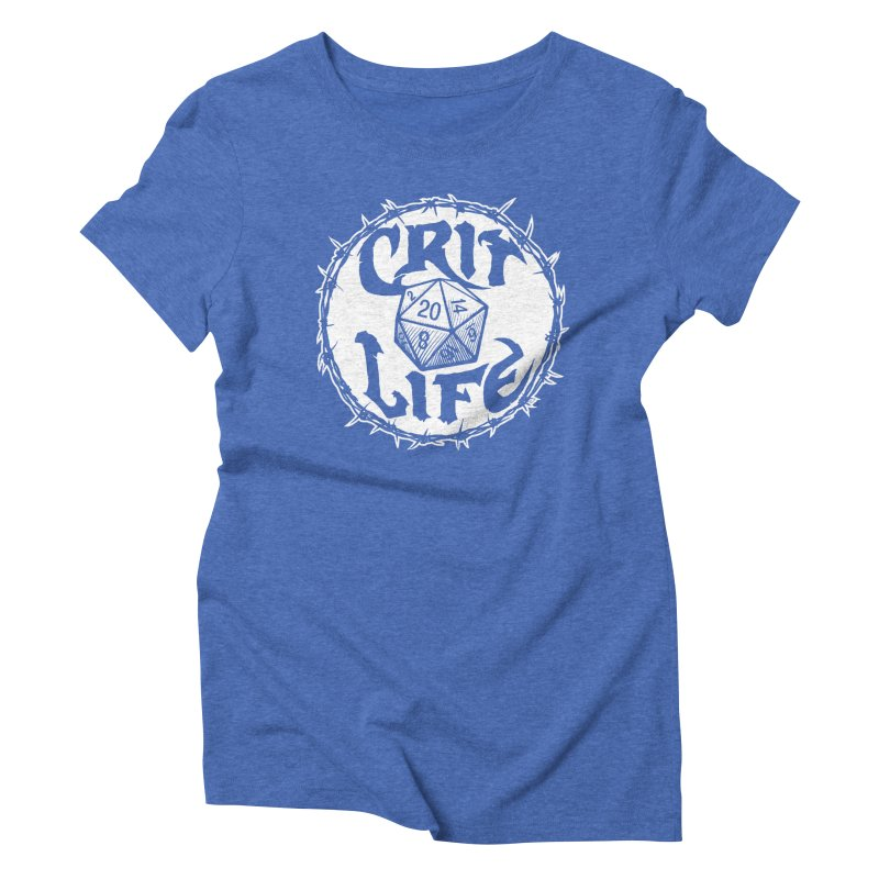 Crit Life (Light on Dark) Women's Triblend T-Shirt by Joe Abboreno's Artist Shop