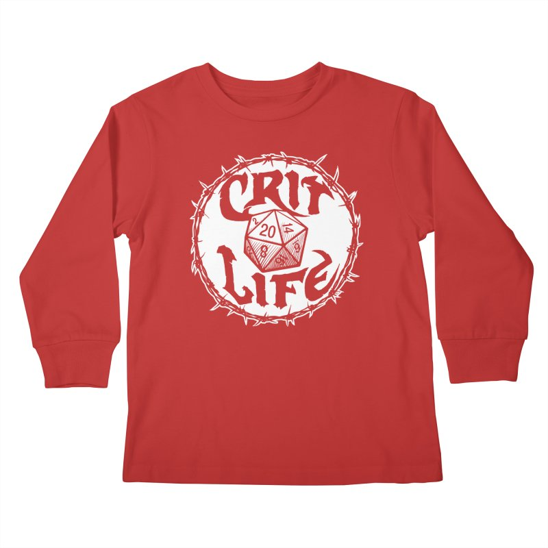 Crit Life (Light on Dark) Kids Longsleeve T-Shirt by Joe Abboreno's Artist Shop