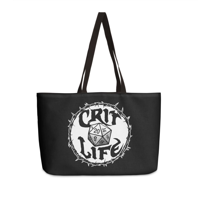 Crit Life (Light on Dark) Accessories Weekender Bag Bag by Joe Abboreno's Artist Shop