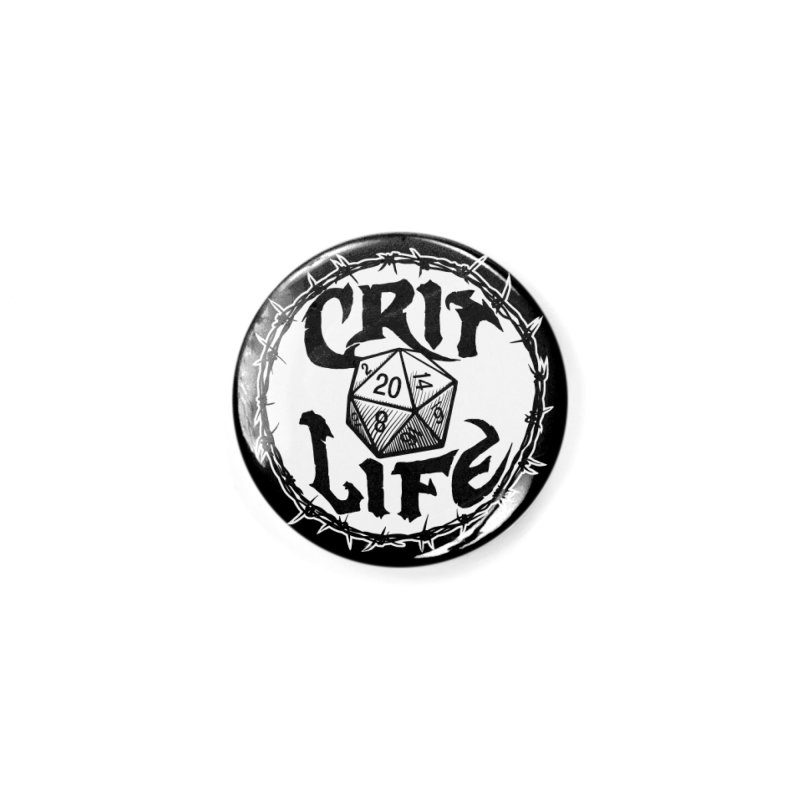 Crit Life (Light on Dark) Accessories Button by Joe Abboreno's Artist Shop
