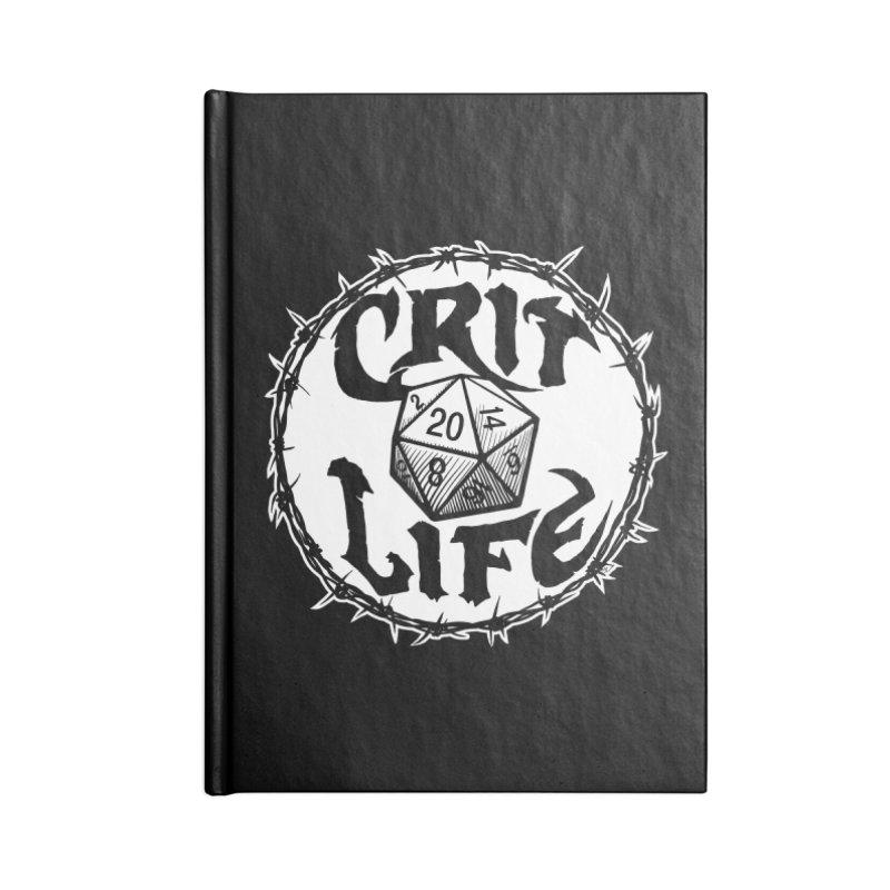 Crit Life (Light on Dark) Accessories Blank Journal Notebook by Joe Abboreno's Artist Shop