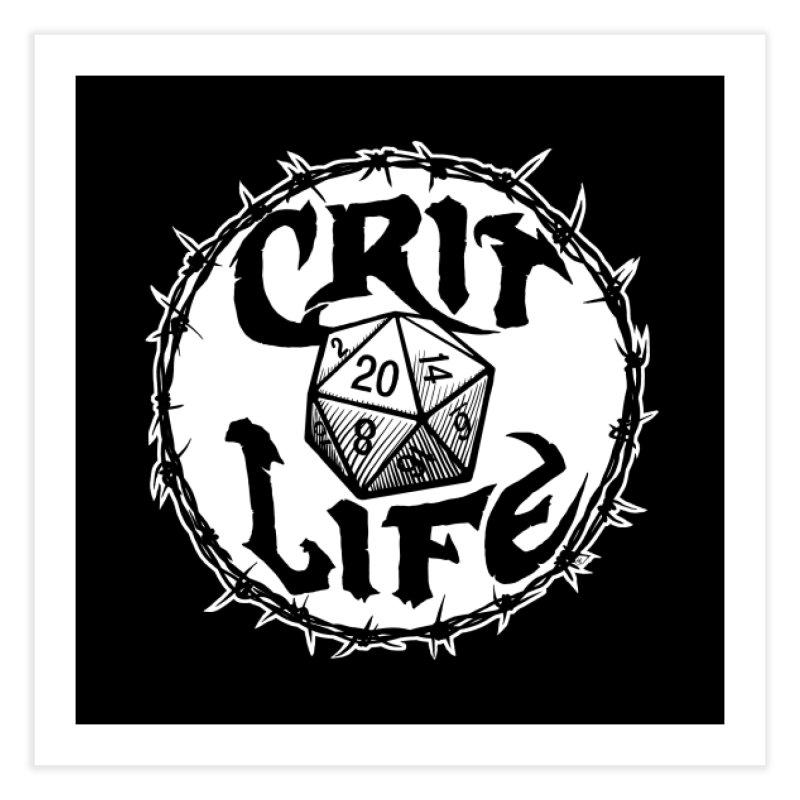 Crit Life (Light on Dark) Home Fine Art Print by Joe Abboreno's Artist Shop