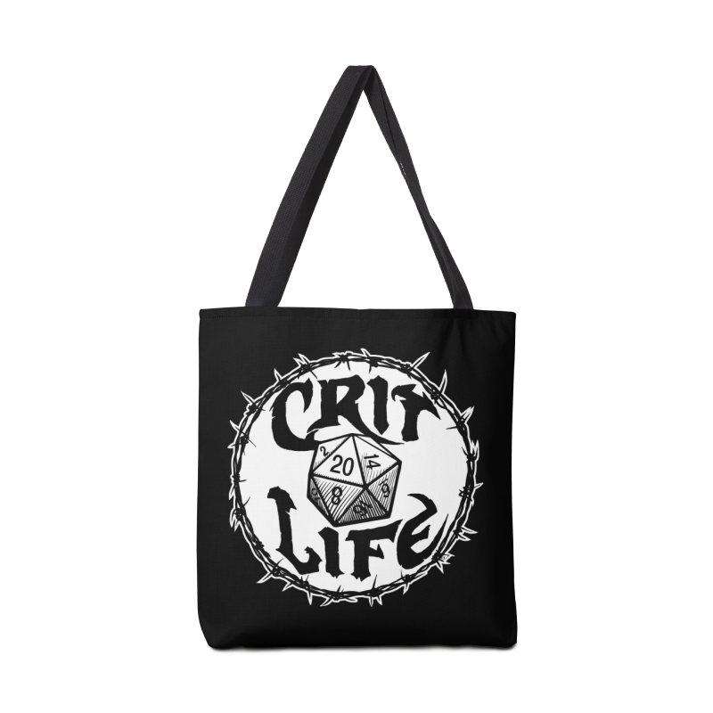 Crit Life (Light on Dark) Accessories Tote Bag Bag by Joe Abboreno's Artist Shop