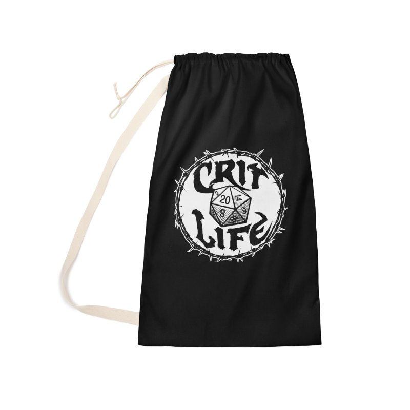 Crit Life (Light on Dark) Accessories Laundry Bag Bag by Joe Abboreno's Artist Shop