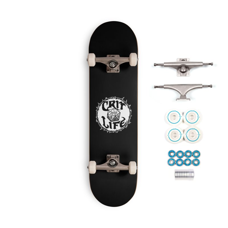 Crit Life (Light on Dark) Accessories Complete - Basic Skateboard by Joe Abboreno's Artist Shop